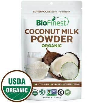 Biofinest Coconut Milk Powder - 100% Pure Freeze-Dried Antioxidants Superfood - USDA Certified Organic Kosher Vegan Raw Non-GMO - Heart Health Boost Digestion Lower Cholesterol - For Smoothie Beverage Blend (114g)