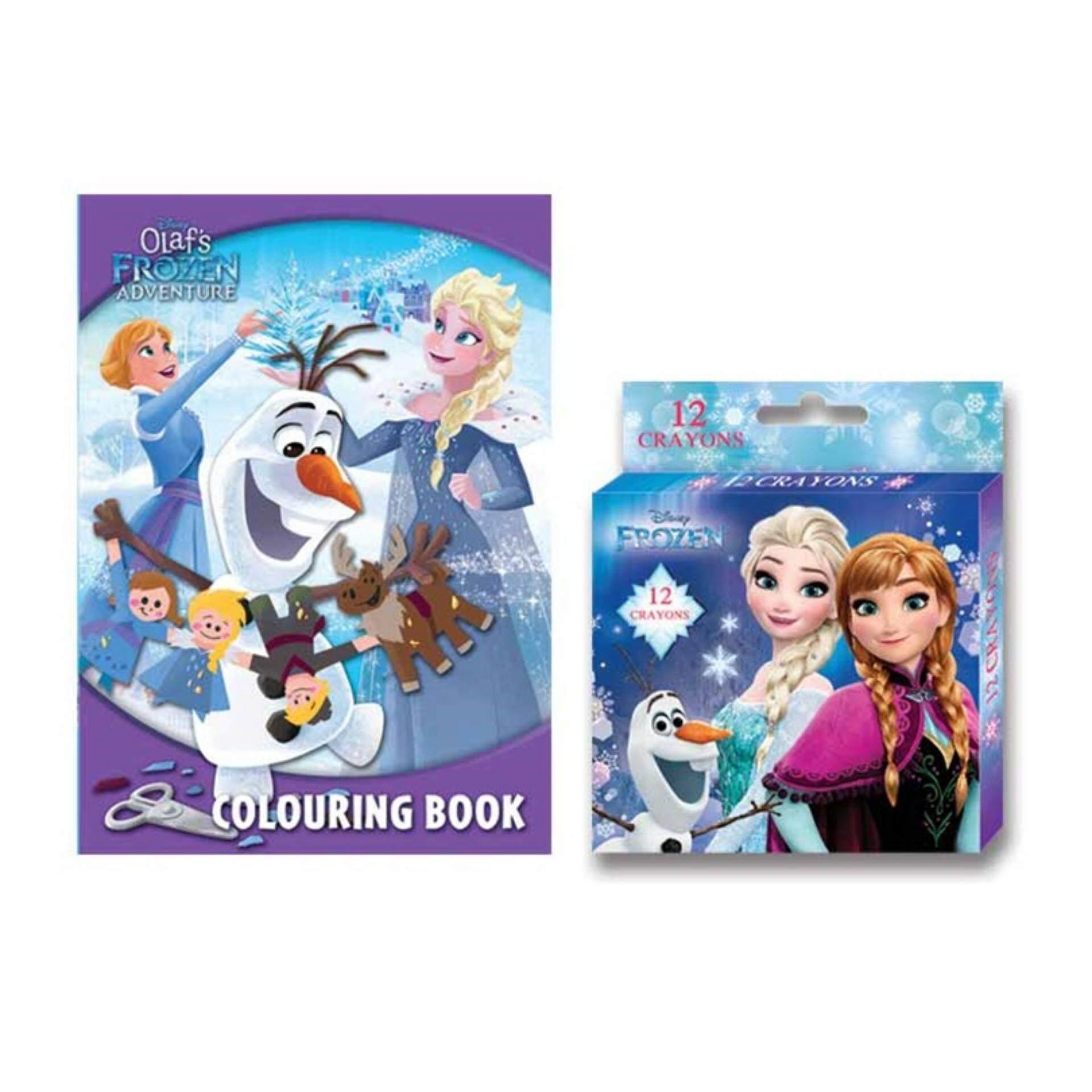 Disney Princess Frozen Activity Book With Crayon Set - Light Blue Colour