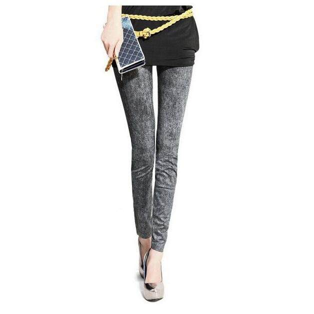 Stretchy Skinny Stretchy Lady's Denim Jeans Look Leggings Tights Pants
