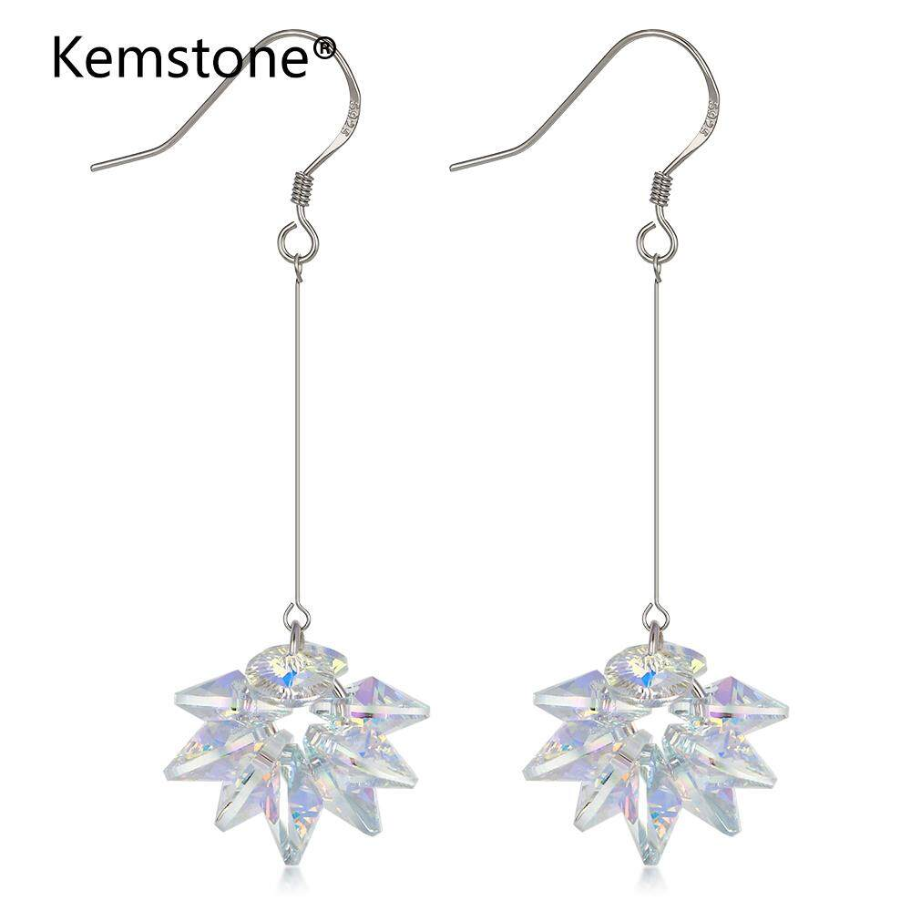 Kemstone Perak Suara Berubah Warna Iridescent Kristal Menjuntai Jatuh Anting-Anting Perhiasan Jadilah Yang Pertama Mengulas Barang Ini