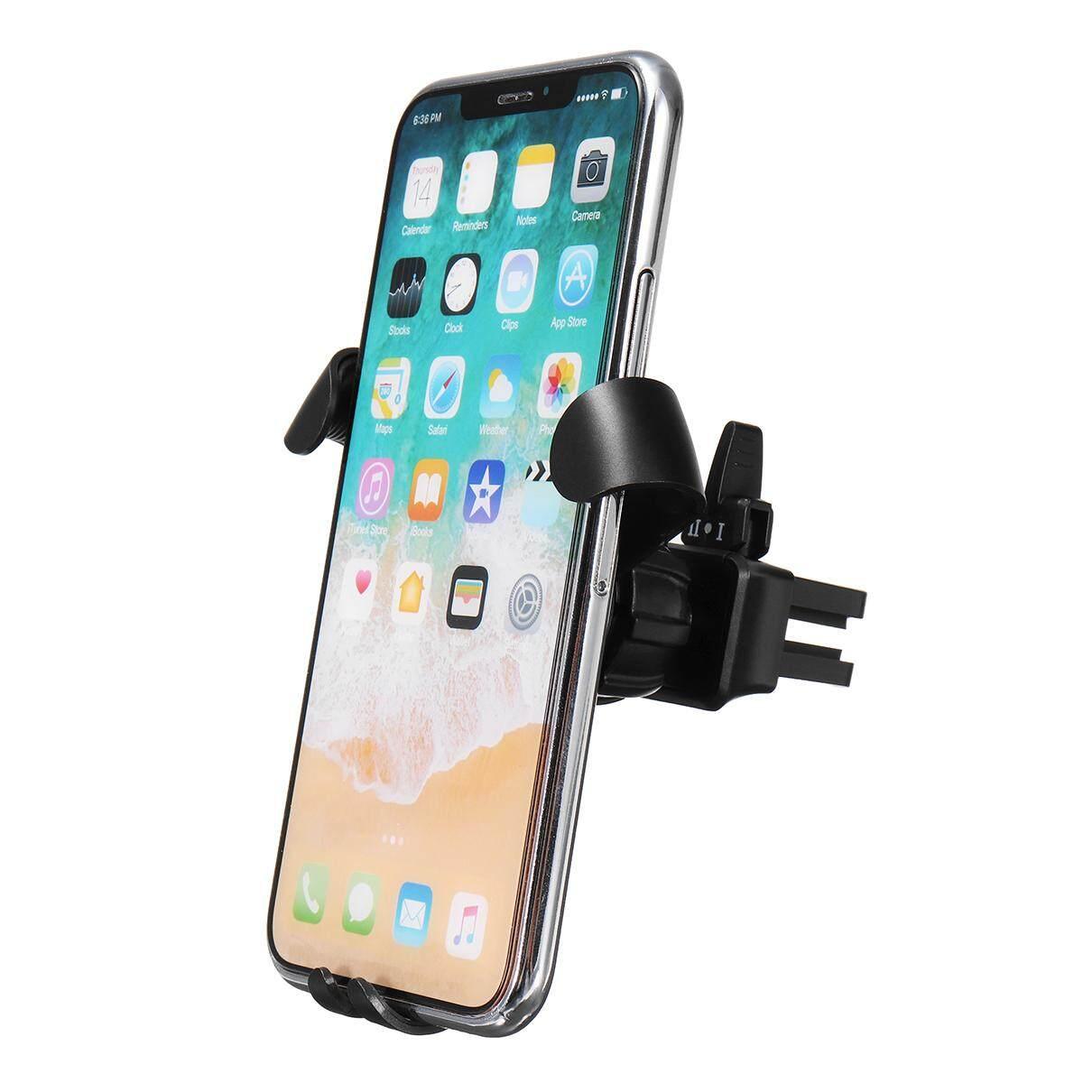 Gravitasi Lubang Udara Mobil Tempat Ponsel untuk Samsung Galaxy S9/UNTUK iPhone X Hitam-Intl