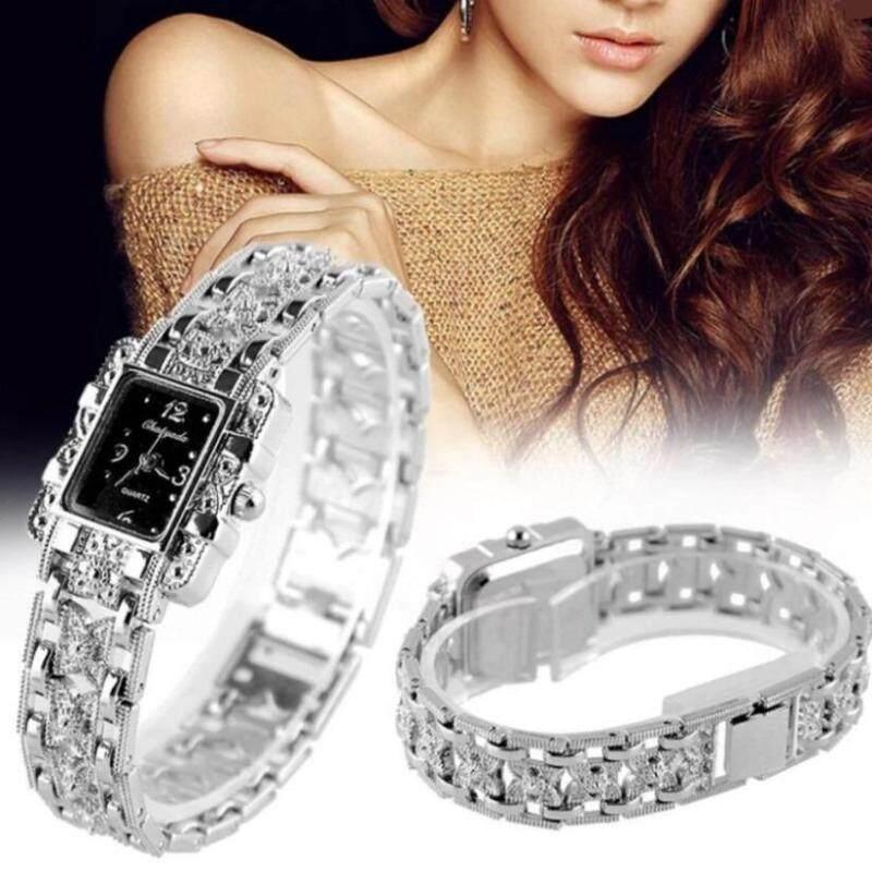 Women Analog Bracelet Oranment Quartz Square Wrist Watch Silver Butterfly Strap Malaysia