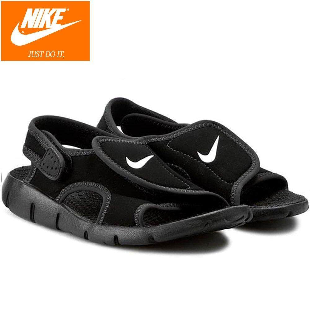 45974df89 Nike Kids Sunray Adjust 4 Sports Sandal 386518-011 Black 100% Original