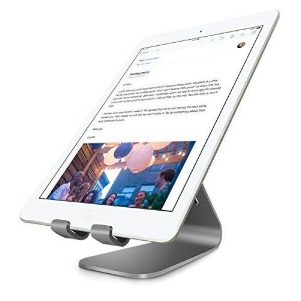 Bestand Tablet Charger Stand, INI Aluminium Alloy Tablet Desktop Stand for iPad Air 1 /2, iPad Mini 4 / 3 / 2 / 1, and Samsung Tablets, E-readers,Google Nexus 7(Grey) - intl