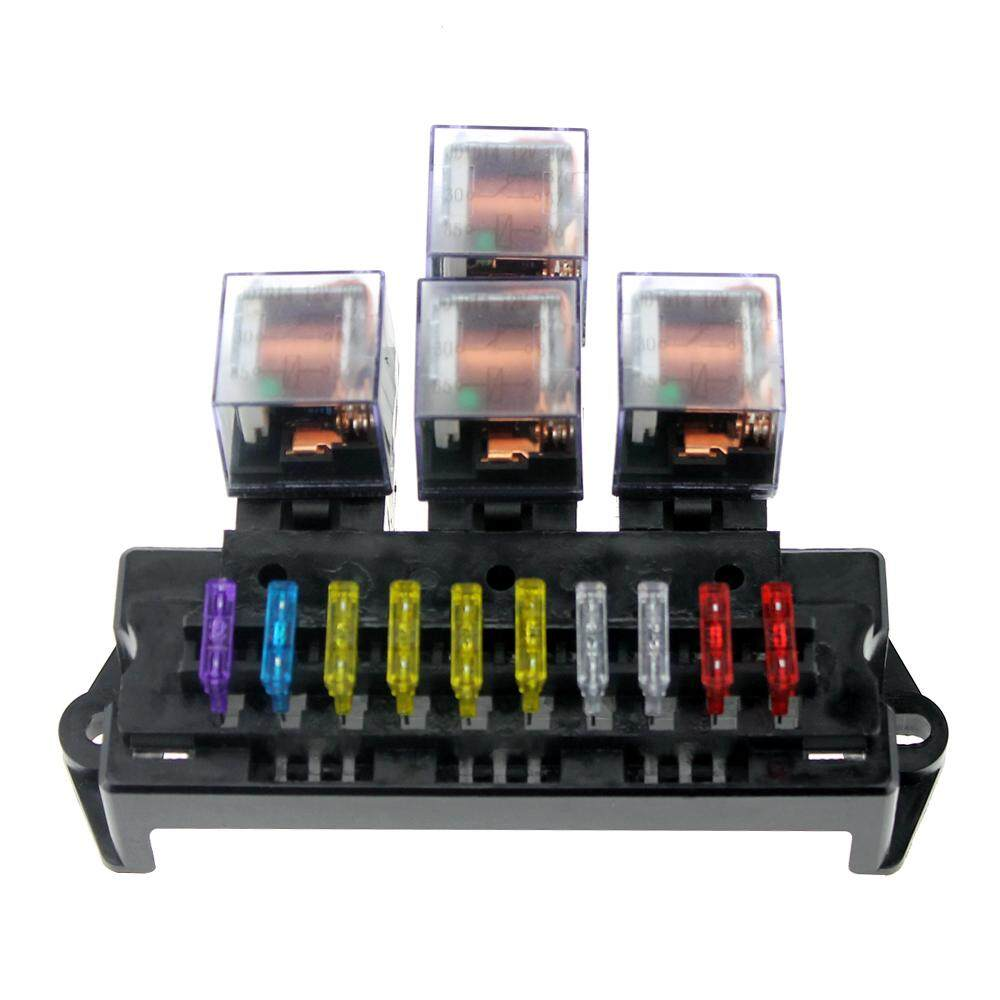 Cek Harga Cikachi Pf083a 8 Pin Relay Socket Round Base Terbaru 5 Prong Pigtail 10 Way Fuse Box Holder Block With 13pcs Standard