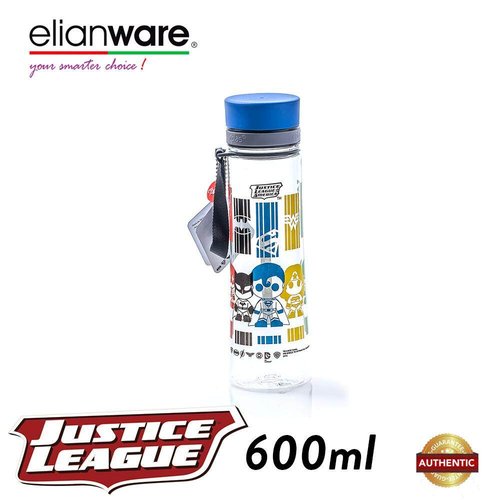 Elianware DC Justice League 600ml BPA Free Transparent Water Tumbler