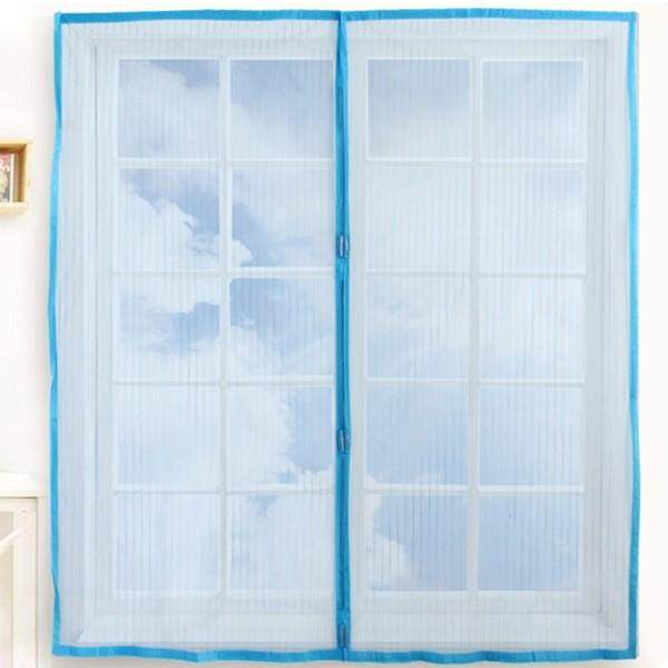 Automatic Closing Magnetic Anti-mosquito Mesh Soft Window Screen 120*150cm(W*H) Blue