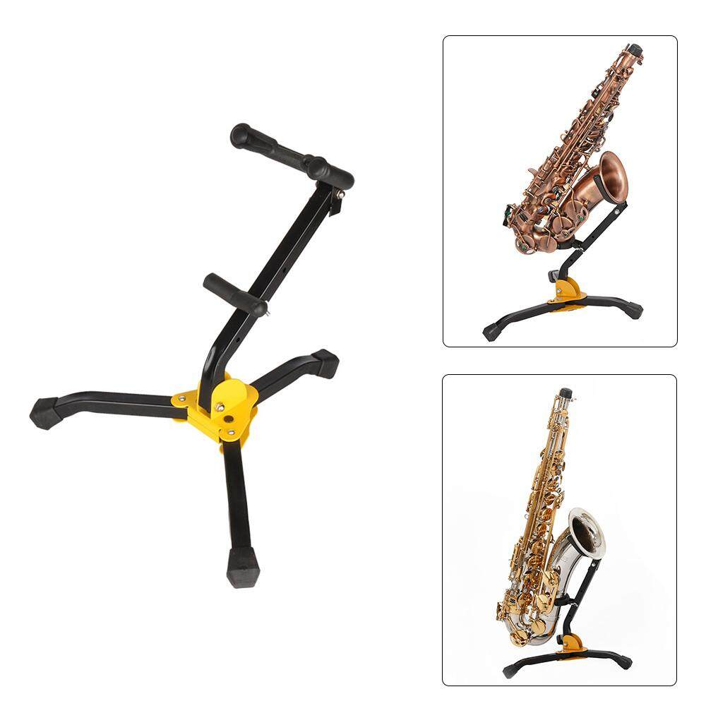 Foldable Saxophone Alto Sax Stand Tripod Holder - intl