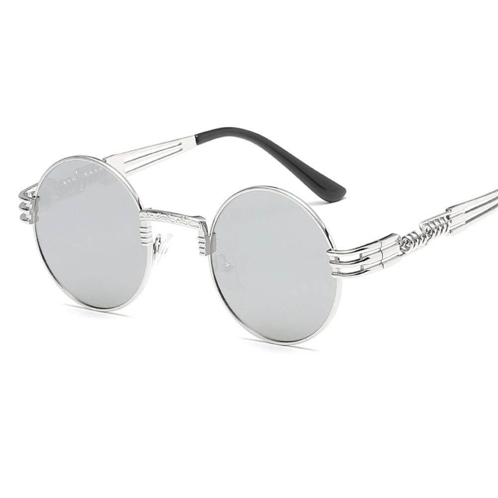 Dsstyles Bergaya Terpolarisasi Kacamata Hitam Musim Semi Kaki UV400 Bersih Vision Sepanjang Bingkai Kacamata Lensa Kacamata Warna: bingkai Perak dan Putih Keperakan Spesifikasi: Tidak Ada-Internasional