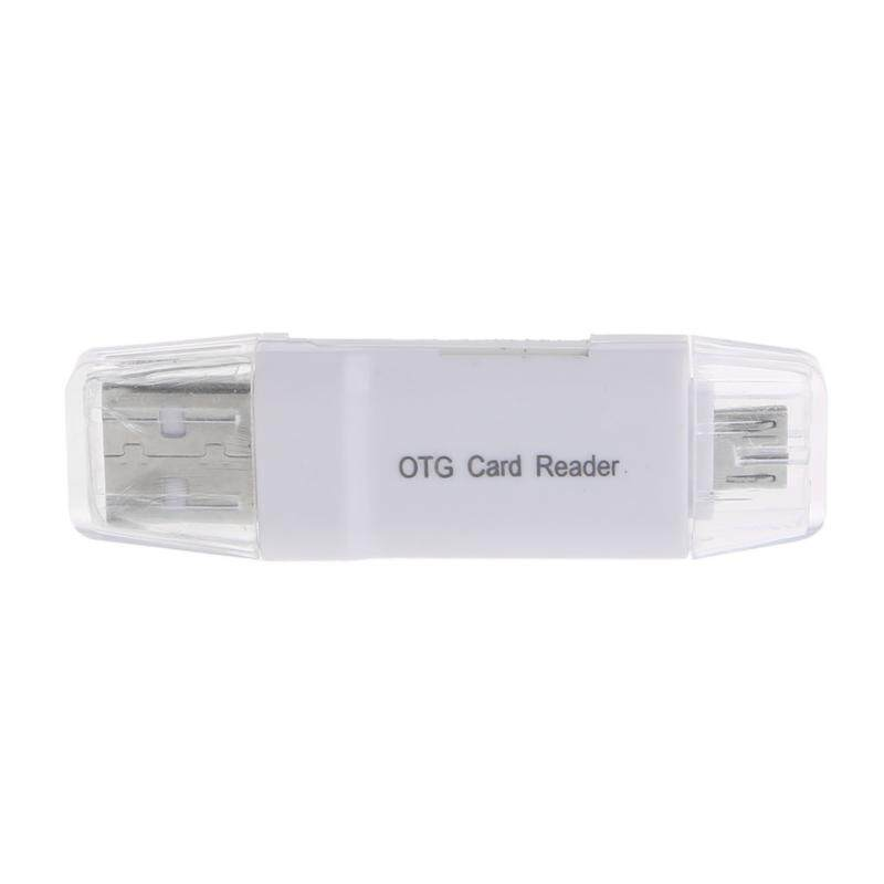 Micro USB OTG to USB 2.0 Adapter Micro SD Card Reader For Smart Phone Tablet - intl