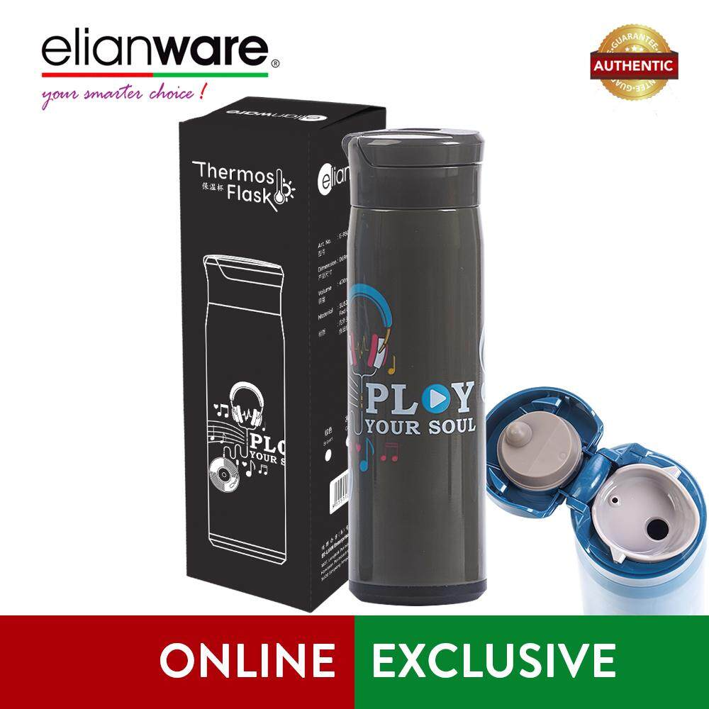 Elianware 470ml Stainless Steel  Play Your Soul  High Insulation Thermos Vacuum Flask
