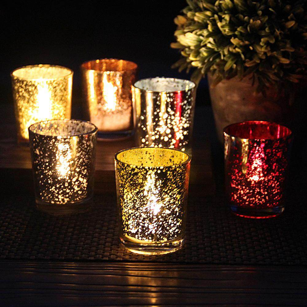 Womdee 6PCS Simple Candlestick Home Decoration Candle Holders Home Party Wedding Decor - intl