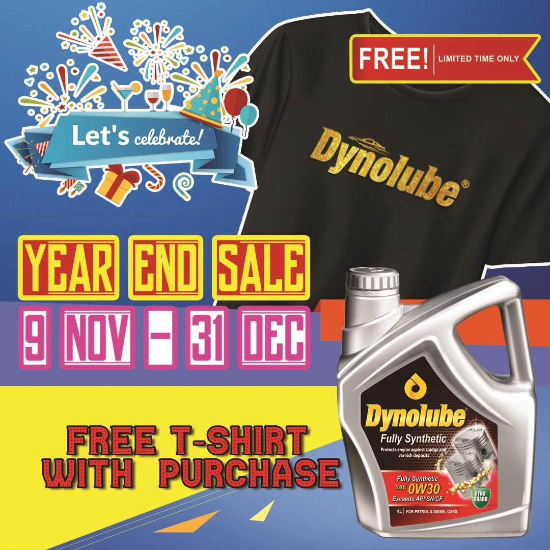 Dynolube 0W30 SN/CF Fully Synthetic 4Liter  Engine Oil FREE 1 X T-Shirt (D)