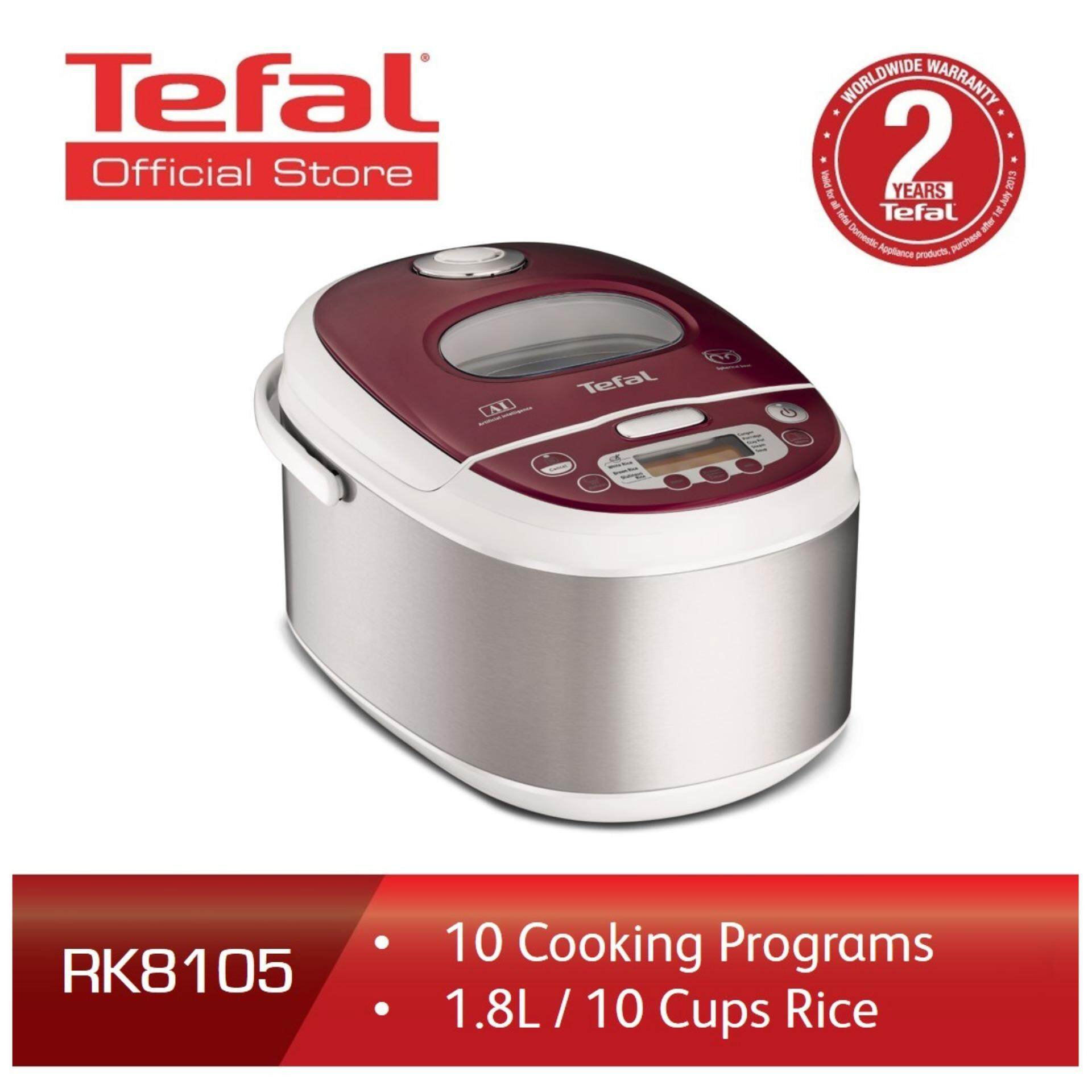 RK8105- Tefal 6 layer Spherical Pot Induction Rice Cooker 1.8L