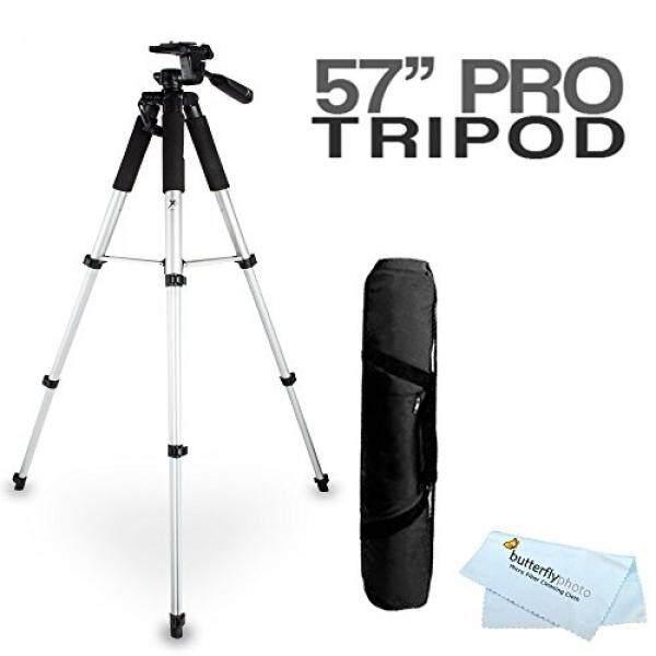 57 Tripod Kamera W/Case untuk Fuji Fujifilm FinePix S8200 S8300 S8400 S8500 S8600 SL1000 HS50EXR X100S X-M1 XP60 XP70 XP80 XP90 XP120 S6900 S9200 S9400W S9800 S9900W X-A2 QX2 X-T1 X30 Kamera Digital-Internasional