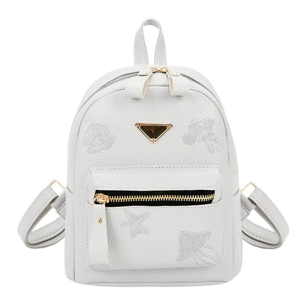 69c247fe10 Anything4you Zipper Backpack Women Fashion Small PU Leather Girls Travel  Casual Schoolbag - intl