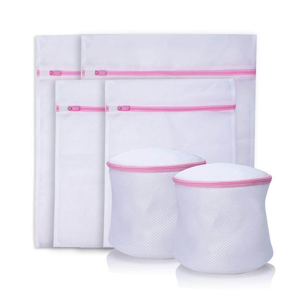 OAK 6 Paket Tas Cuci Tahan Lama untuk Mantel Halus yang Indah, Sweater, Lingerie Panty, Perlindungan Bra Mesin Laundry Stocking Pakaian (4 Mesh Laundry Bag, 2 Bra Bag) - intl