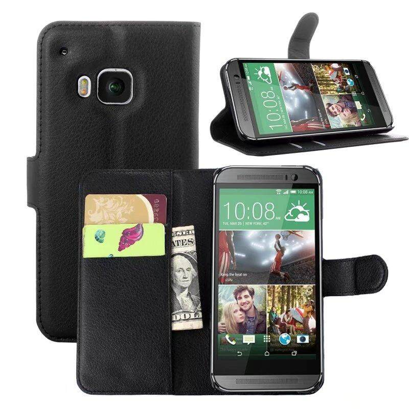 Leather Flip Cover Wallet Card Holder Case For HTC One M9 / S9 - intl