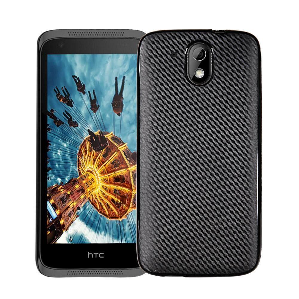 Akabeila Karbon Fibre Tpu Telepon Case S untuk HTC DESIRE 526 526G + 526G 326 4.7 Inch 326G Mencakup Punggung Lembut Silikon Smartphone Case Ventilasi Anti Penyaradan Seluler Cangkang 360 Derajat Penuh Melindungi-Internasional