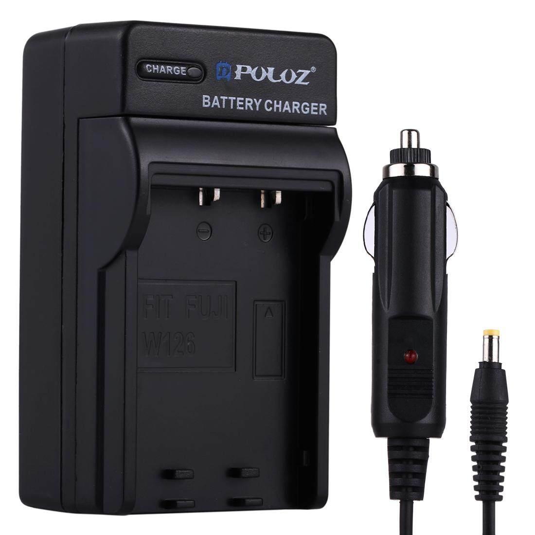 Puluz Kamera Digital Pengisi Daya Baterai Mobil untuk Fujifilm NP-W126-Intl