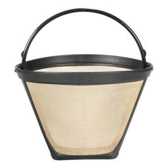 Harga preferensial 1PC Permanent Reusable #4 Cone Shape Coffee Filter Mesh Basket Stainless New terbaik