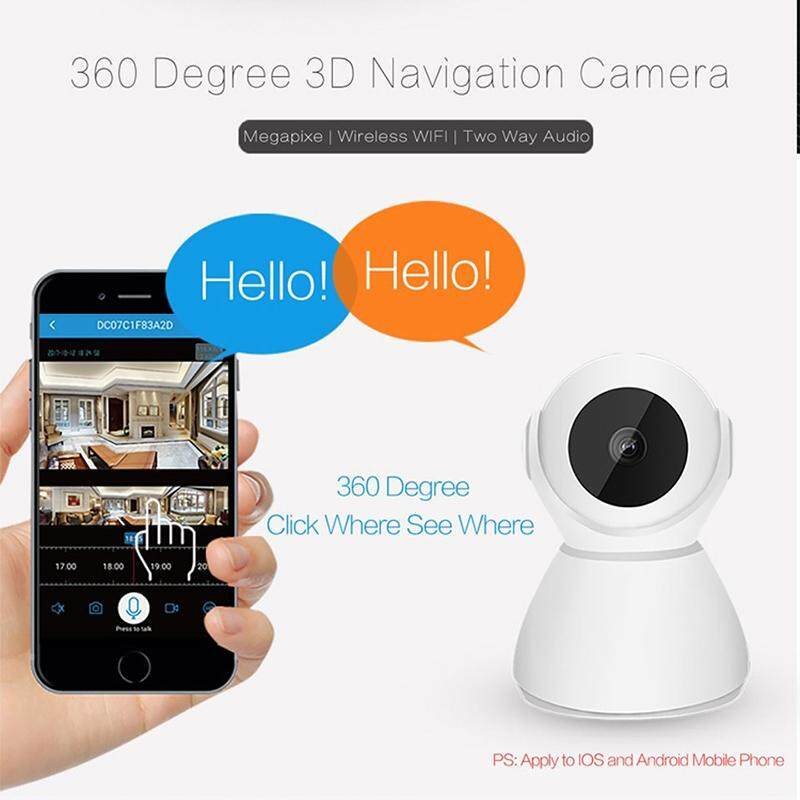 2MP IP Camera 360 Degree 1080P Wireless Infrared Night Vision Security Surveillance