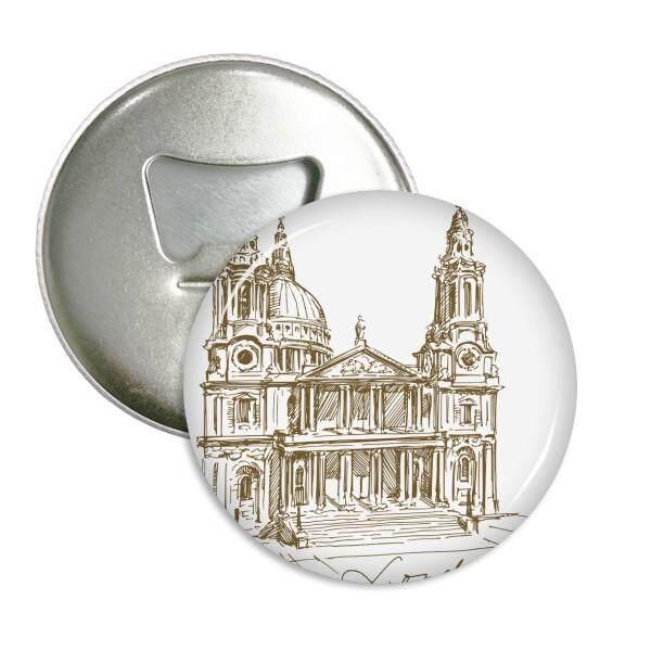 Katedral St. Paul England London Sepanjang Pembuka Botol Magnet Kulkas Pins Lencana Tombol Hadiah 3 Pcs-Internasional