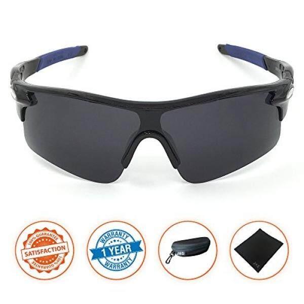 J + S Active Plus Bersepeda Luar Ruangan Atlet Olah Raga Kacamata Hitam, Terpolarisasi, Perlindungan UV 100%-Internasional