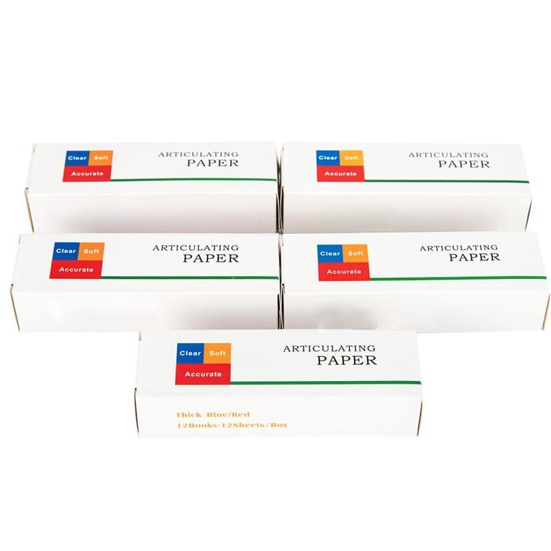 Three - certificate complete mechanic material denture commissioning the dental paper dental paper blue/red