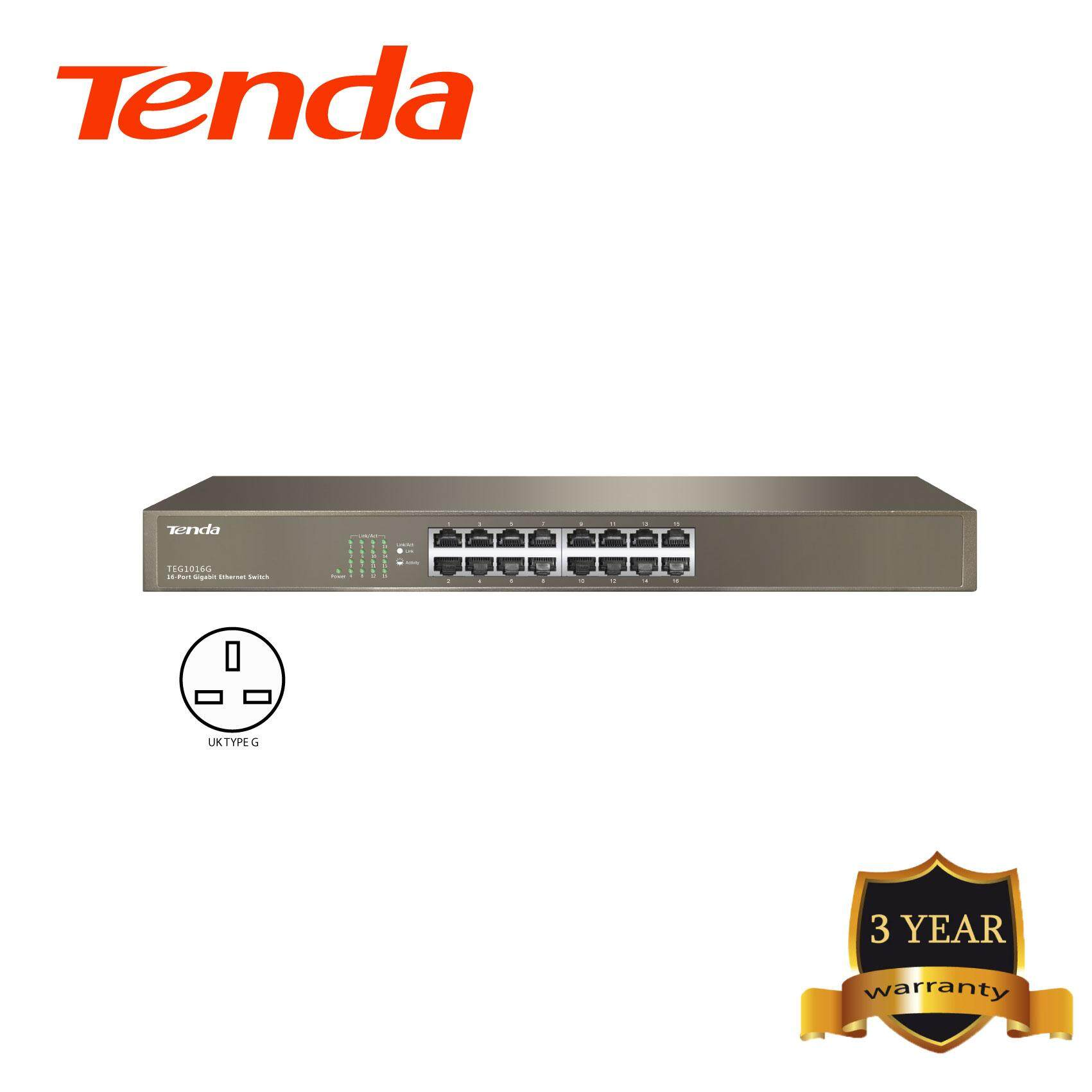 Tenda TEG1016D 16-port Gigabit Desktop/Rachmount Switch