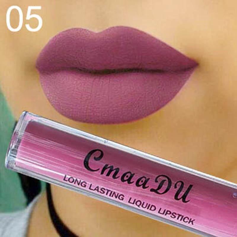 Anti-Air Warna Tidak Mengkilap Lipstik Cair Bibir Halus Tongkat Panjang Abadi Bibir Gloss-