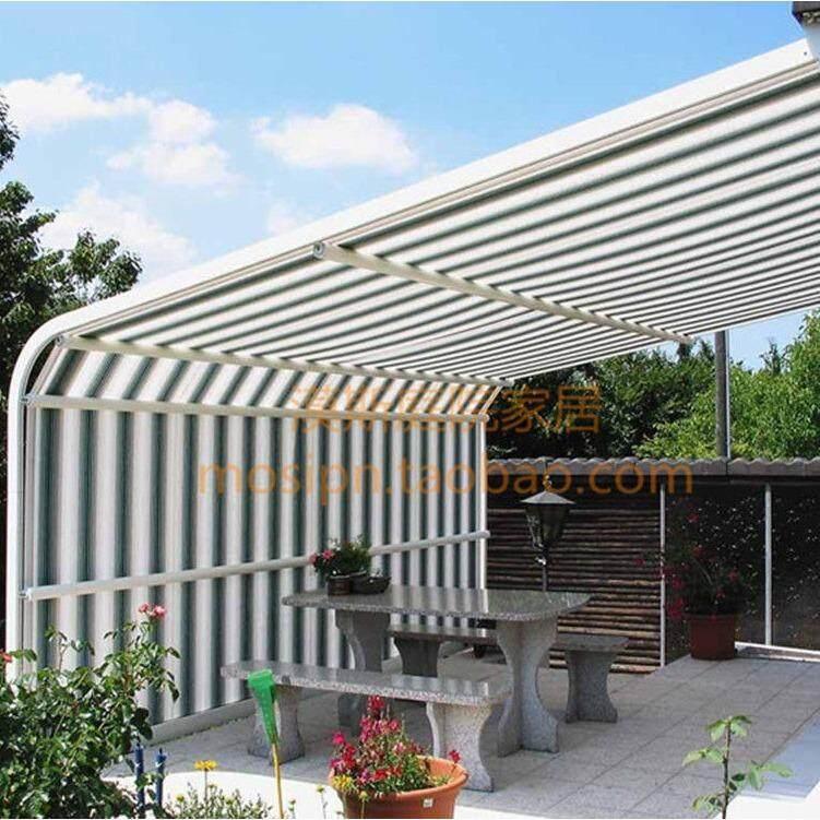 Sun Shade Sail Outdoor 70% UV Block Awning Canopy Mesh Net Shade Cloth Colour Strip 2x4m - intl
