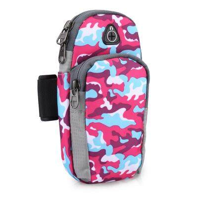 Free Knight FK801 Protective Phone Pouch Outdoor Arm Bag (RED CAMOUFLAGE)