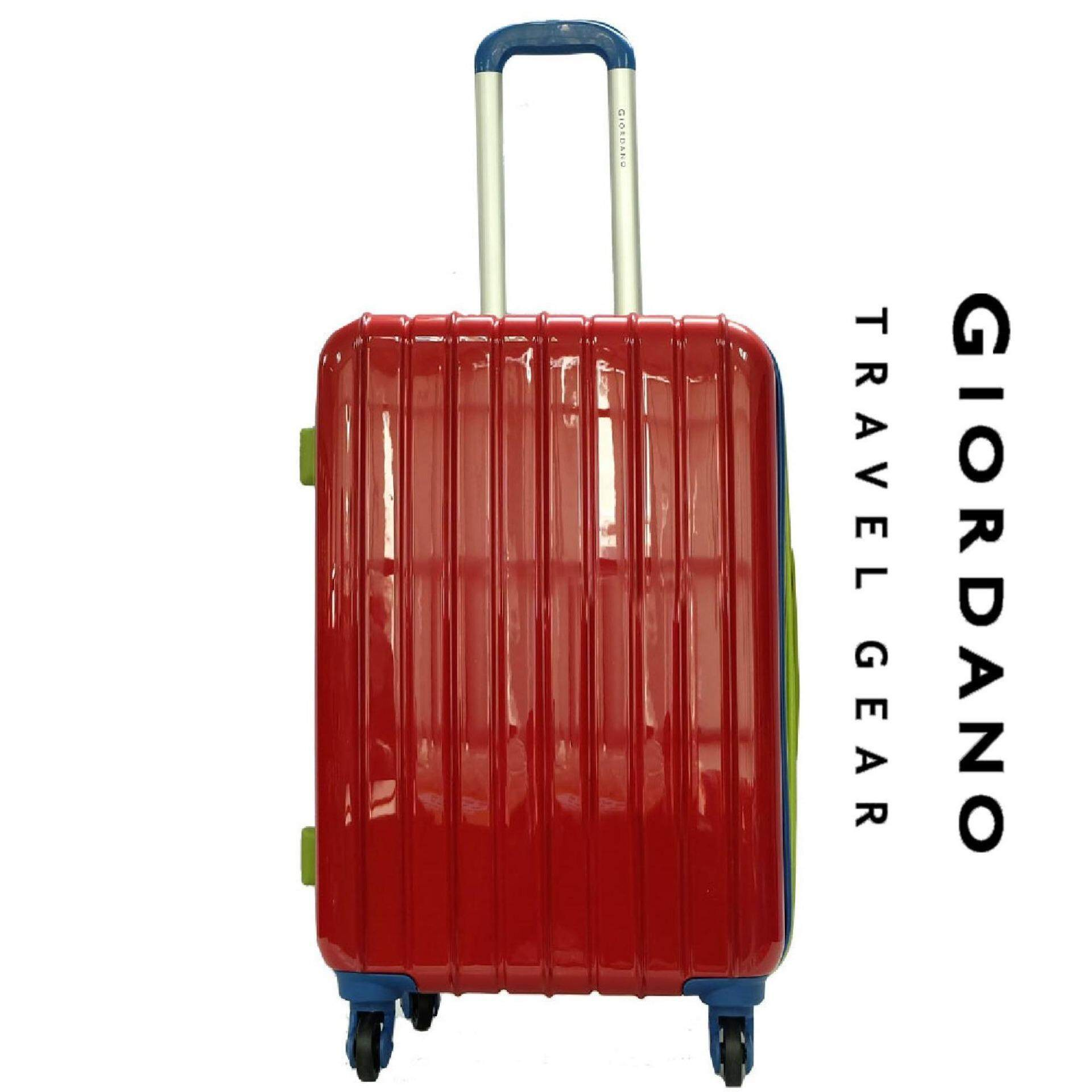 Giordano GAD1232 24 inches MULTICOLOR PC Hard Case w Expander- 4W Red