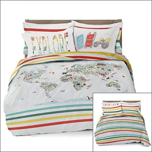 Baby bedding set for sale crib bedding sets online brands prices fullqueen world map reversible duvet cover set with 2 pillowcases for kid bedding by gumiabroncs Images