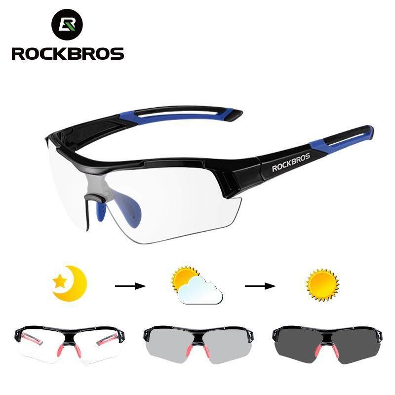 ROCKBROS Photochromic Bersepeda Kacamata Hitam dengan Tak Terlihat Myopia  Bingkai Kacamata Sepeda Kacamata UV400 Terpolarisasi MTB c8fcb890a5