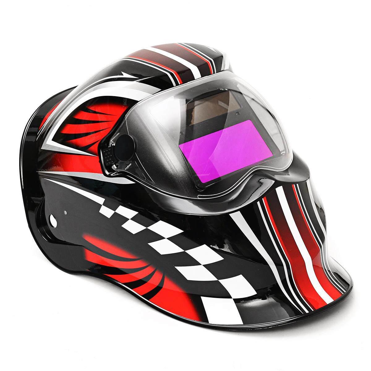 Tenaga Surya Daya Welding Masker Otomatis Darkening Solder Tutup Ringan Grinding Las Lensa-Internasional