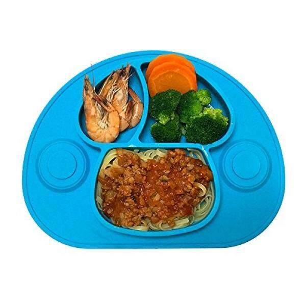 Julie Bayi Julie Bayi Balita Silikon Tatakan, Anak-anak Plates Makan Malam Alas untuk Balita, Bayi, anak-anak dan Bayi, Cocok untuk Kursi Tinggi Feeding Tray, Non-stick, Dishwasher dan Microwave Aman, pengisap Alas, BPA Bebas (Biru)-Internasional