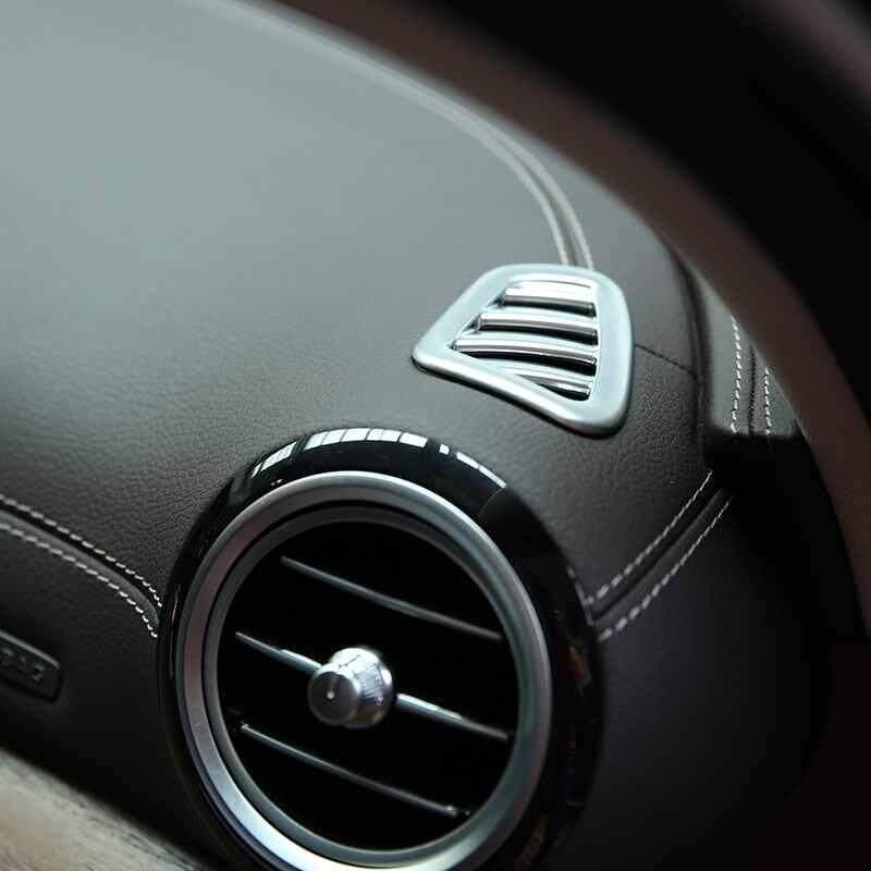 LJAN 16-17 สำหรับ Mercedes Benz W213 E - Class แดชบอร์ดโครเมี่ยมคลุมระบายอากาศ Trim - INTL