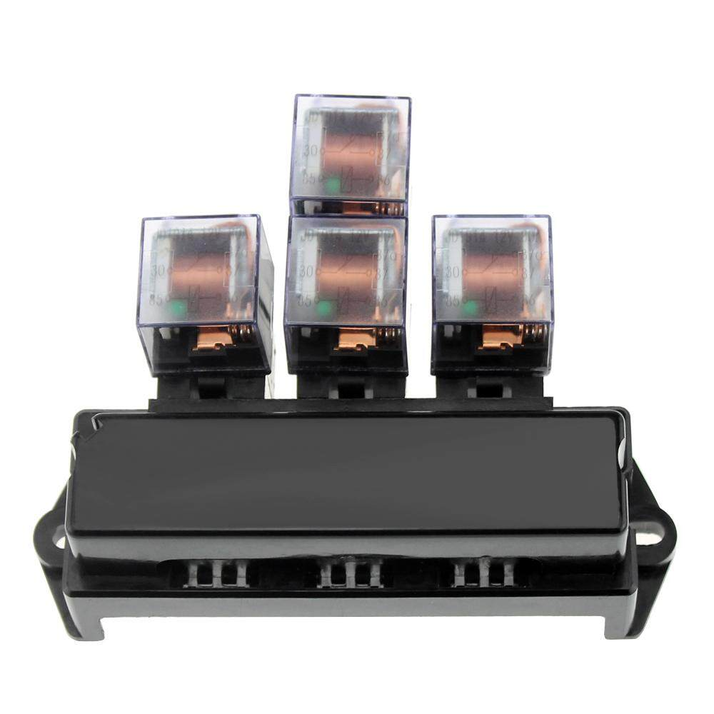 Fitur 10 Way Fuse Box 5 Pin Socket Base Relay Holder Block With Universal Automotive 13pcs Standard
