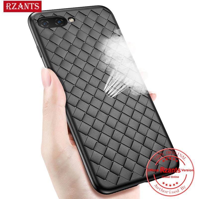 Rzants For OPPO A3s Case?Weave texture?BV Leather Luxury Ultra Thin Soft TPU