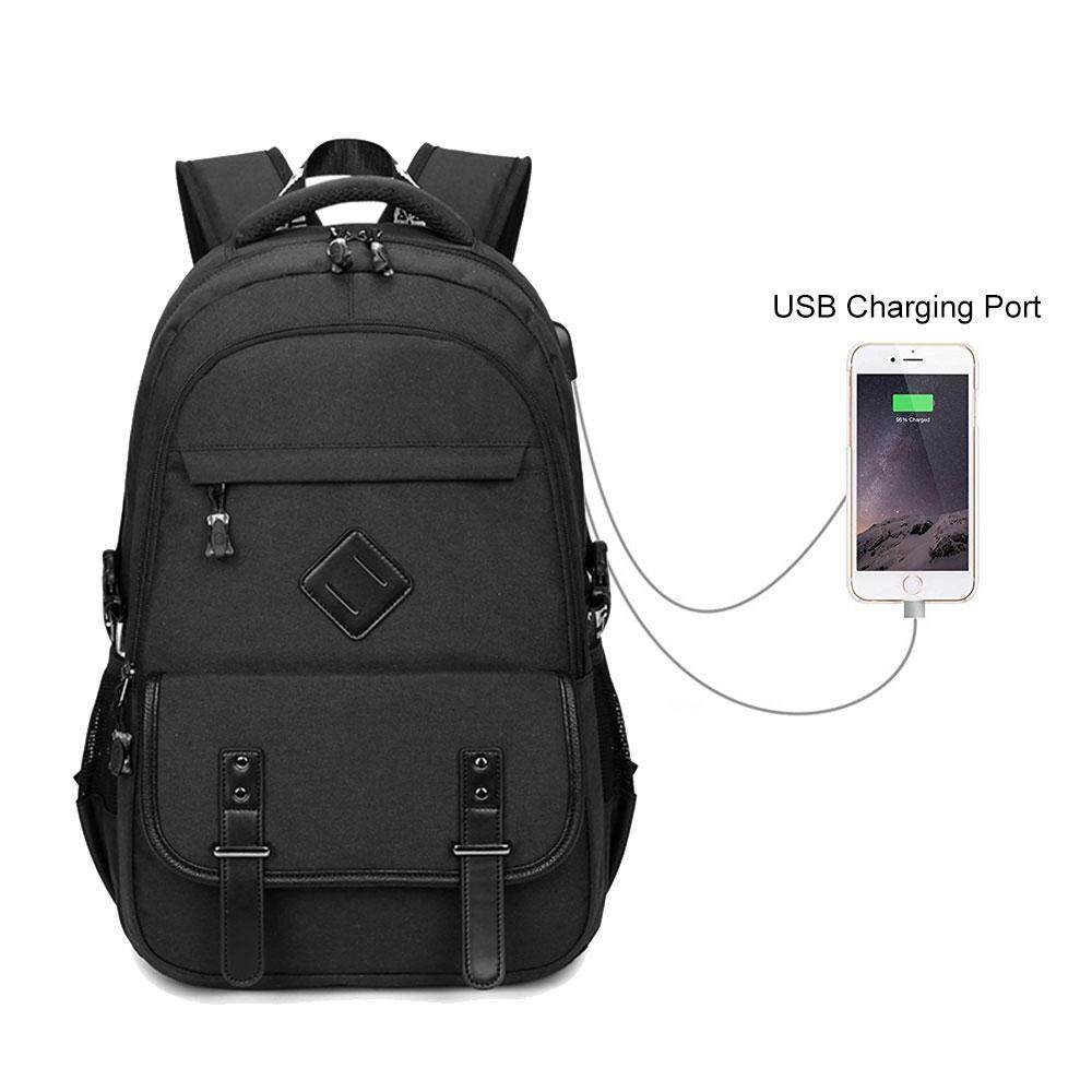 06020bc0073e Kobwa New Women Anti Theft Waterproof USB Charging Laptop For Men Travel  Backpack Customs Lock Black
