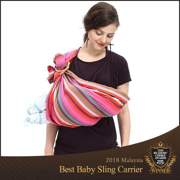 Mamaway Rainbow Crayon Baby Ring Sling Carrier Mei Tai