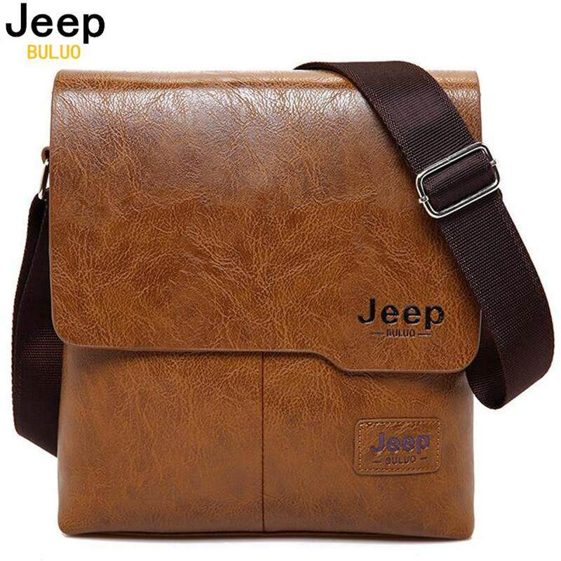 JEEP BULUO Famous Brand New Fashion Man Leather Messenger Bag Male Cross Body Shoulder Business Bags and Men Tote Bags - intl
