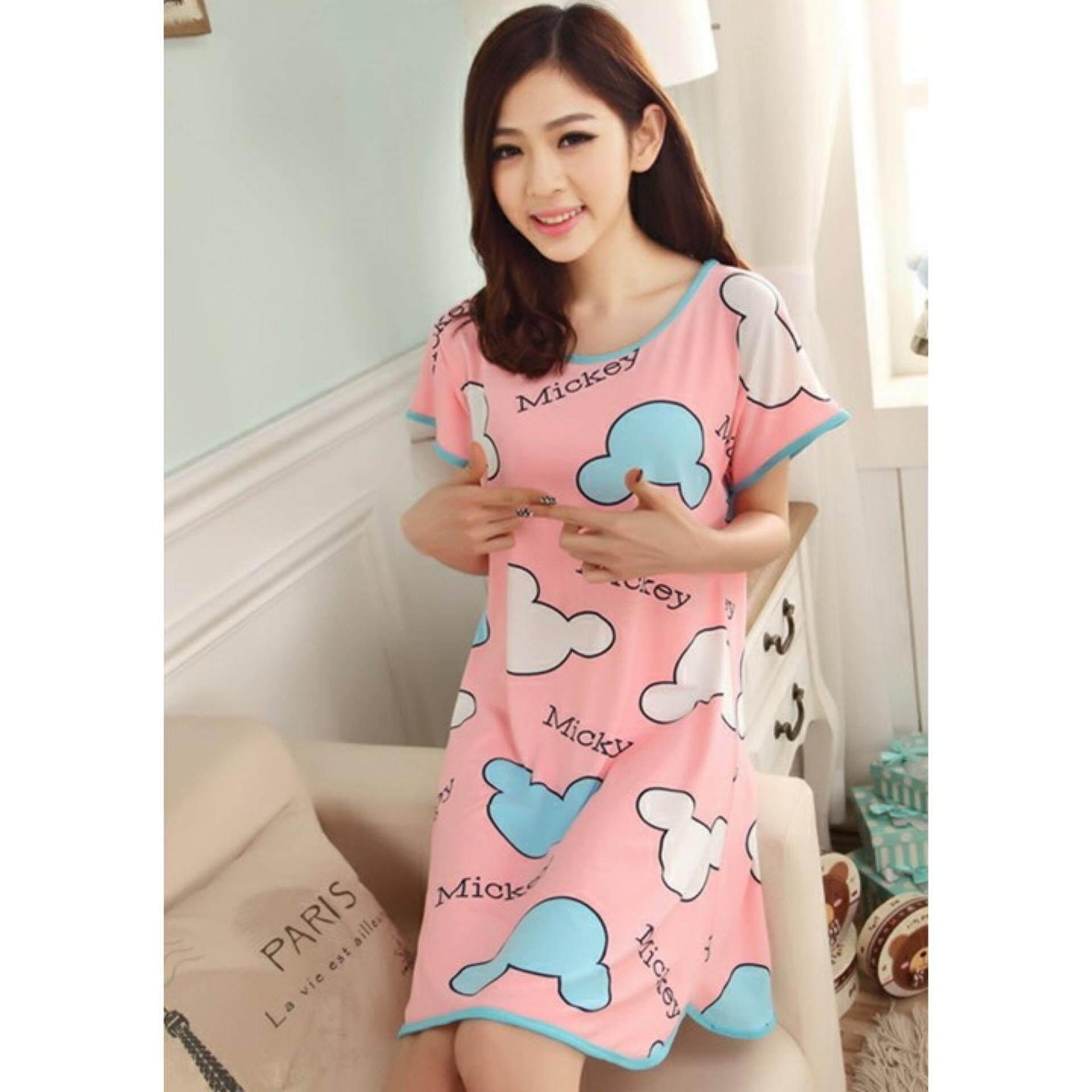 Cute & Comfy Cartoon Nightwear (Mickey Pink) - 1pc