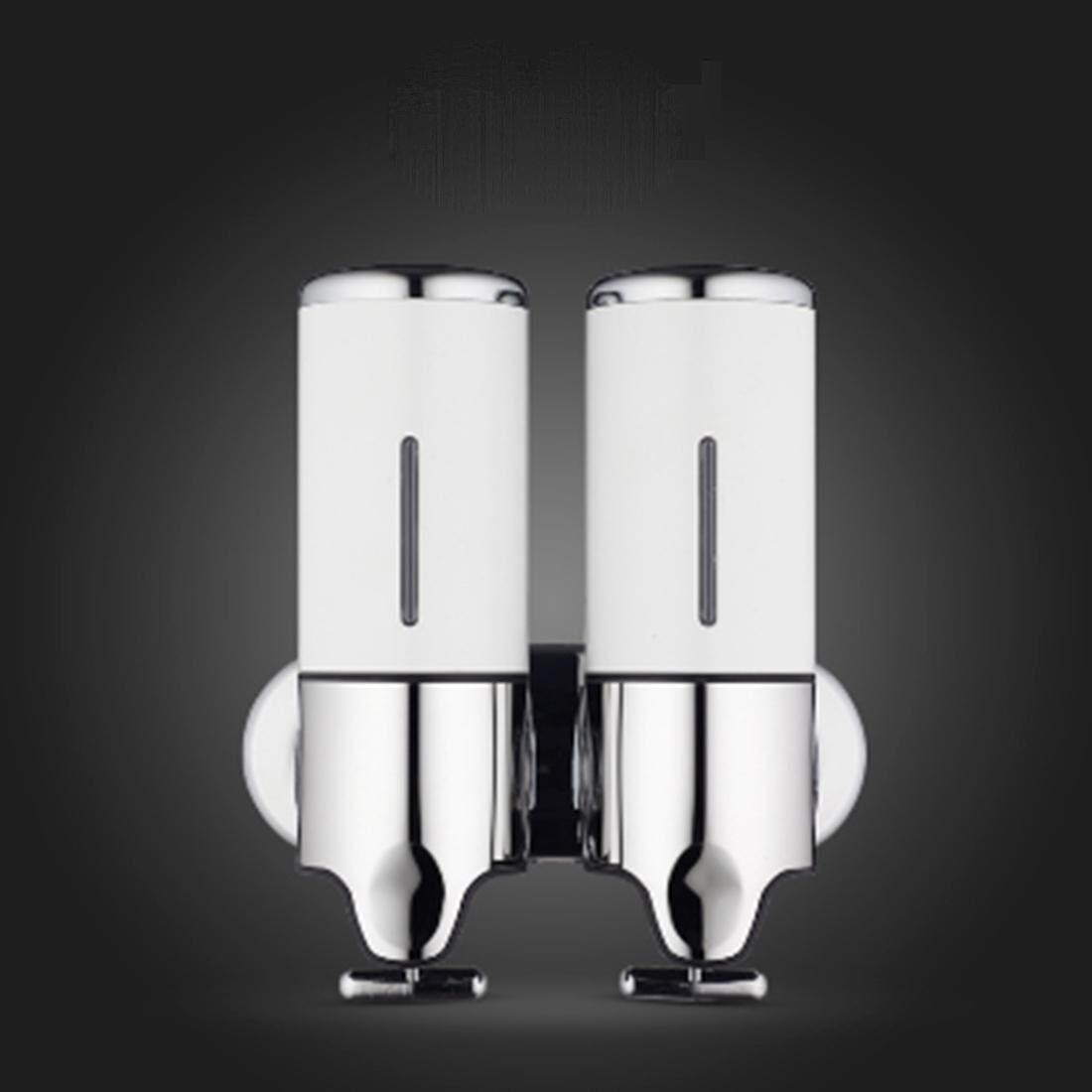 Hotel Pancuran Manual Dispenser Rumah Tangga Anti Karat Cuci Cair Sampo Botol Sabun, Kapasitas: 1000 Ml (Putih) -Internasional