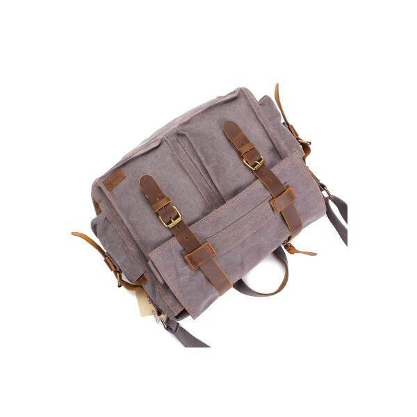 7b8d6ef6fdc AUGUR Fashion Men HandBag Vintage Canvas Male Travel Shoulder Crossbody  Vintage Military Bag - 2 ...