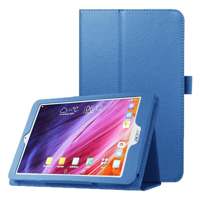Litchi Texture Horizontal Flip Leather Case with Holder for Acer Iconia One 8 B1-820(Blue)