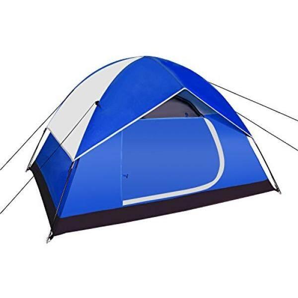 Neewer Backpacking Tenda Luar Ruangan Tenda Olahraga-Kompak Ringan 2 Sampai 3 Orang Perhatian-Hingga Shelter untuk Kemah Daki Gunung pantai Park Gunung Daerah dengan Tas Berritsleting, 83X59X47 Inci (Biru/Abu-abu)-Internasional
