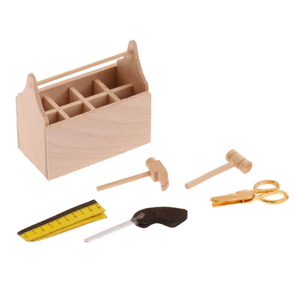 Bolehdeals 1/12 Miniatur Rumah Boneka Kayu Tootkit Kotak Peralatan Furniture Set Aksesoris-Internasional